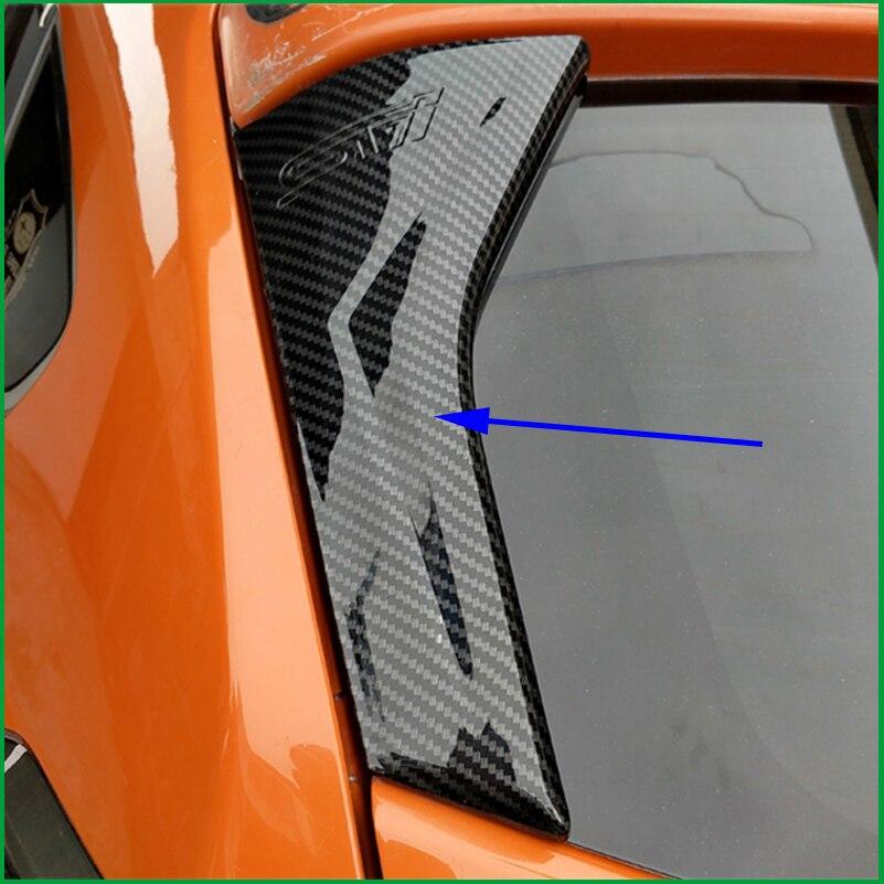 For Subaru XV 2012 2016 ABS Carbon Fibre Print Look Exterior Both Side Rear Window Spoiler