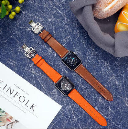 Bracelet en cuir véritable pour Apple Watch série 4 Bracelet de montre Bracelet pour Apple Watch Bracelet série 1 2 3 iWatch herm sangles