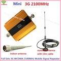 Pantalla LCD! Mini W-CDMA 2100 Mhz Amplificador de Señal GSM 3G Repetidor Repetidor de Señal Móvil WCDMA 3G Teléfono Celular Amplificador + antena