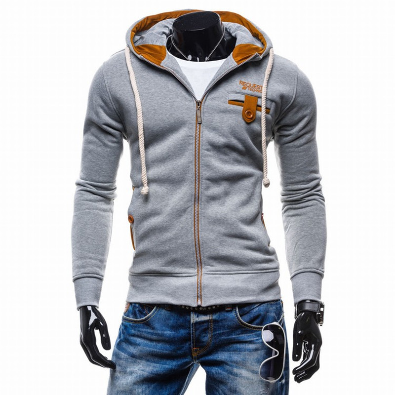2017 New Brand Hoodies Men Sweatshirt Male Fight Color Hooded Hip Hop Long Sleeve Sweatshirt Men