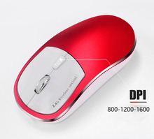 Silent 2.4Ghz Wireless Rechargeable Mouse Computer Mice Optical 1600DPI With Matte Aluminium Set For Notebook Desktop