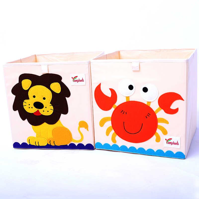 Caixa De Armazenamento De bordado Animal Dos Desenhos Animados Dobrável Grande cesto de Roupa Suja Cesta de Artigos Diversos caixas De Armazenamento De brinquedo do miúdo Roupas Infantis Livro organizador