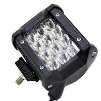 4inch 36W Car LED Light Bar Work Light Spot Beam Driving Fog Light Road Lighting for Jeep Car Truck SUV Boat Marine