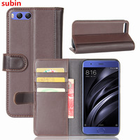 Hot Selling Xiaomi Mi 6 Mi6 Case Luxury Flip Genuine Leather Phone Back Cover For Xiaomi