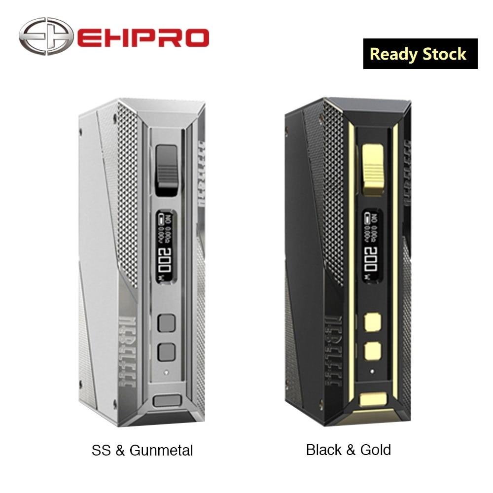 Nuevo Original Ehpro caja de acero frío TC MOD Max 200W Salida cigarrillo electrónico vaporizador Mod tipo C mod de vapeo de carga rápida USB con rosca 510