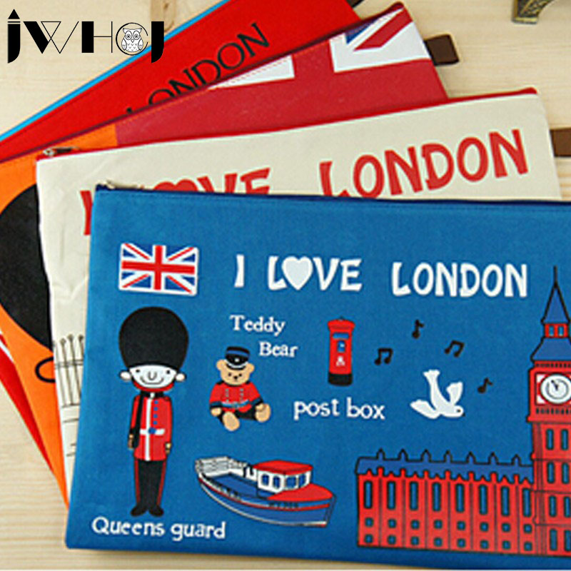 Leap London Oxford Cloth Oxford Cloth Multifunction Zipper Document Envelope Cosmetic Bag Data Case School Supplies Stationery
