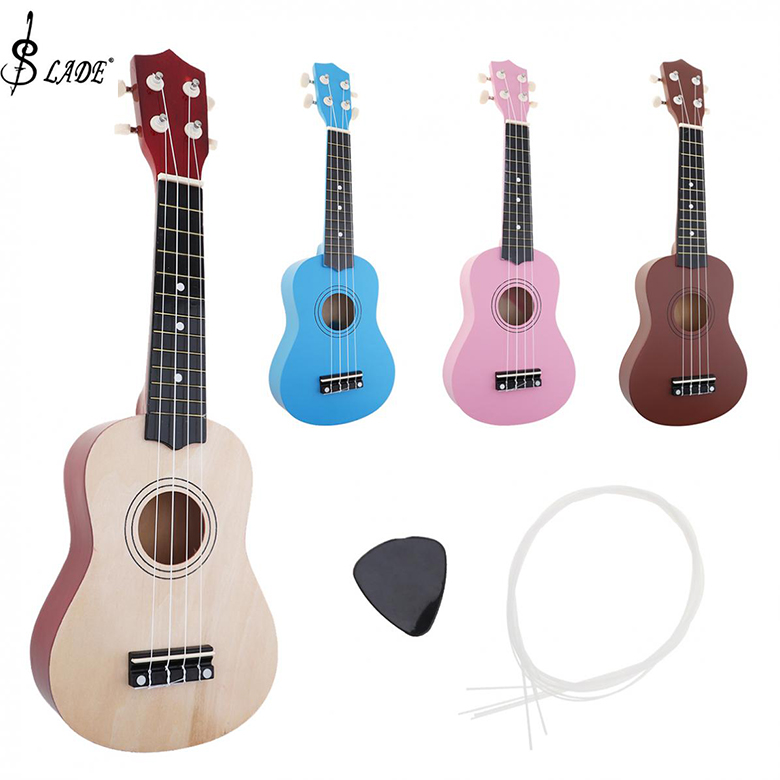Slade 21 Inch Ukulele Beginners 4 String Guitar Ukelele For Children Christmas Gifts Hawaii Four String Guitar +String+Pick