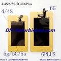 2 unids/set LOCA OCA UV Pegamento Pantalla Táctil LCD quitar el adhesivo UV pegamento molde fijo de Polarización de cine para Iphone4/4S/5/5S/5C/6/6 Más