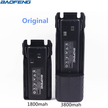 Original BAOFENG UV 82 BL 8 7 4V 1800 3800mah Li ion Battery For Baofeng UV