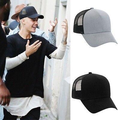Fashion Flannel Trucker Hat with Adjustable Mesh Back Justin Bieber SOLID  BLACK Baseball Cap 01cb80cd6d2