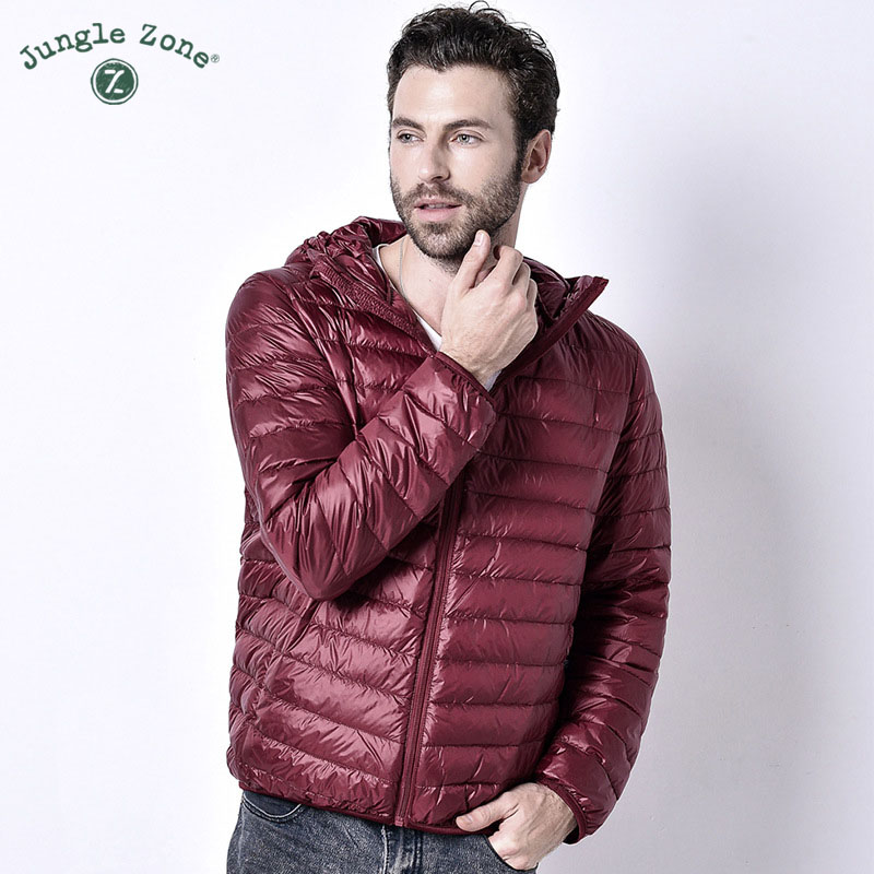 Winter men Ultralight Jacket <font><b>White</b></font> Duck Down Jacket Men Down Jackets Outdoors hooded Collar Winter Male Casual down jacketCoat