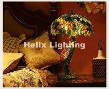 Kostenloser Versand Tiffany Tischlampen D51cm H86cm Luxuriöse Alte Garten E27 Nachttischlampen Wohnzimmer Dekoration Schlafzimmer Lampe