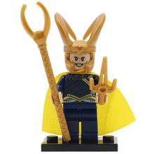 POGO Loki Thor Jane Foster DIY Block Super Heroes Building Set Bricks Toy Lepin Educational Toys