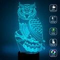 Новый светодиодный ночник 7 видов цветов украшение для спальни украшение в виде совы украшение в виде животных лампа USB зарядка Рождественс...
