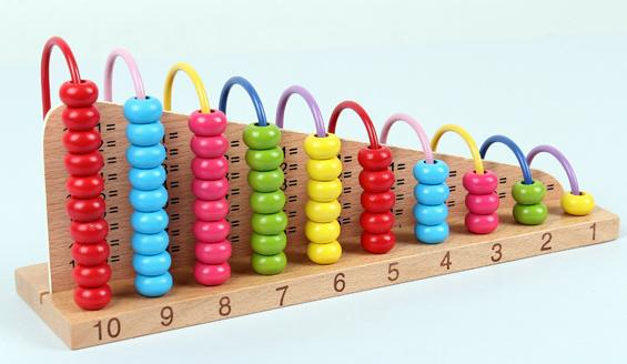 Beech Wood Abacus Bead Counting Frame 1 1 Calculation Arithmetical Rack Frame Rack Abaci Calculator