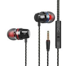 3,5 мм Проводные высококачественные наушники с микрофоном, кнопка управления, металлический материал, прочная гарнитура для ноутбука/ПК телефона PS4 MP3