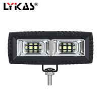 LYKAS Led Work Light Bar 12V 24V Work Led 40W 2x2 Flood Beam 6000k Flush Mount Driving Fog Off Road Super Bright Car Light