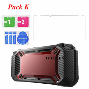 Image 4 - IVYUEEN for Nintend Switch NS NX Console Heavy Duty Slim Rubberized Hard Case Shell with Thumb Grip Tempered Glass Screen Film