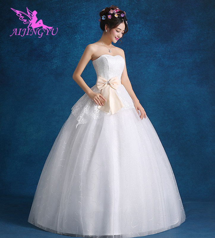 AIJINGYU 2018 sweet free shipping new hot selling cheap ball gown lace up back formal bride dresses wedding dress FU192