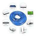 25 M Cat 5 UTP Cable Ethernet RJ45 Macho a Macho Internet Herramientas de Conector de Cable de red LAN Cable de Conexión Para El Ordenador Portátil Azul