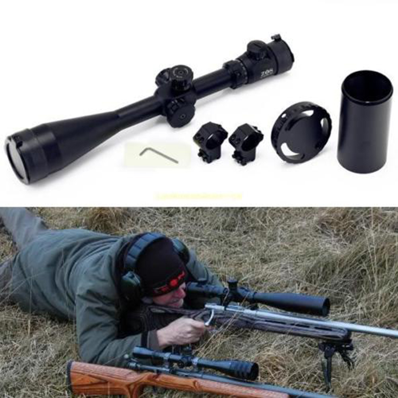 10-40x60 Tactical Rifle Scope 10x-40x Magnification For Hunting Sport canislatrans military two style tactical tm4 5 18x40 4 5x 18x magnification rifle scope for hunting cl1 0287