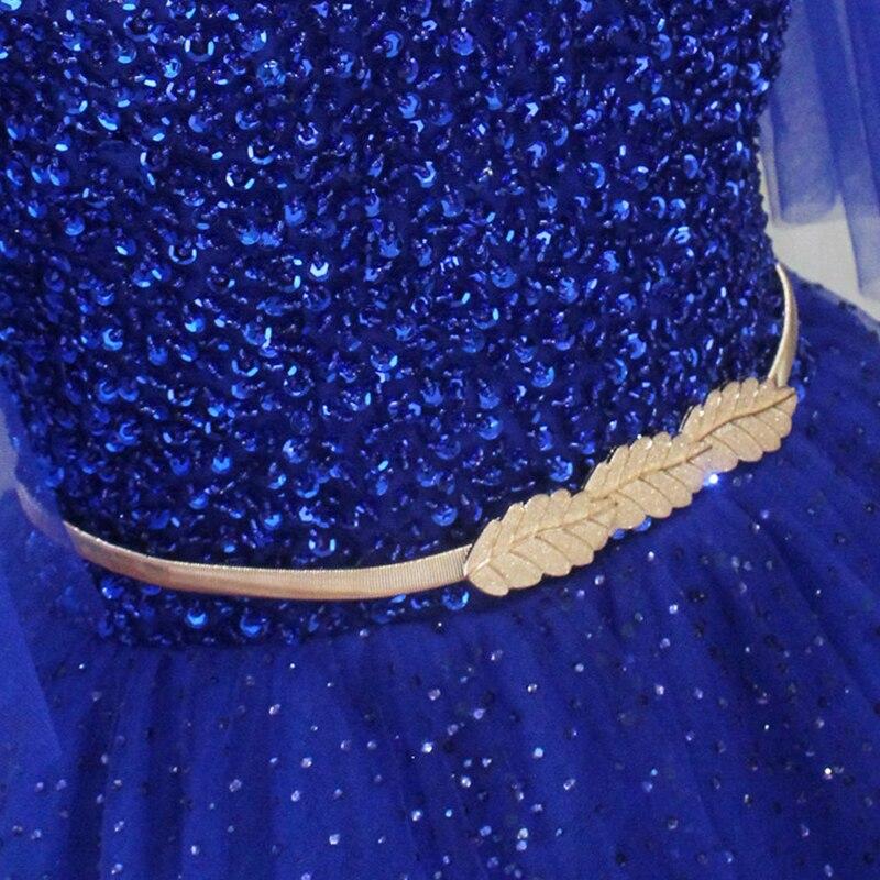 Longues robes de bal v-cou demi manches a-ligne à lacets grande taille Sexy robe de bal pour les femmes crêpe robes de bal 2018 avec perlé - 5