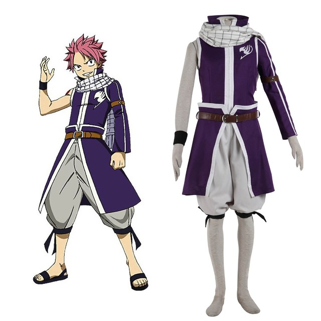 Hot Anime Fairy Tail Natsu Dragneel Cosplay Costume X791 Grand Magic Games Team  Fairy Tail A