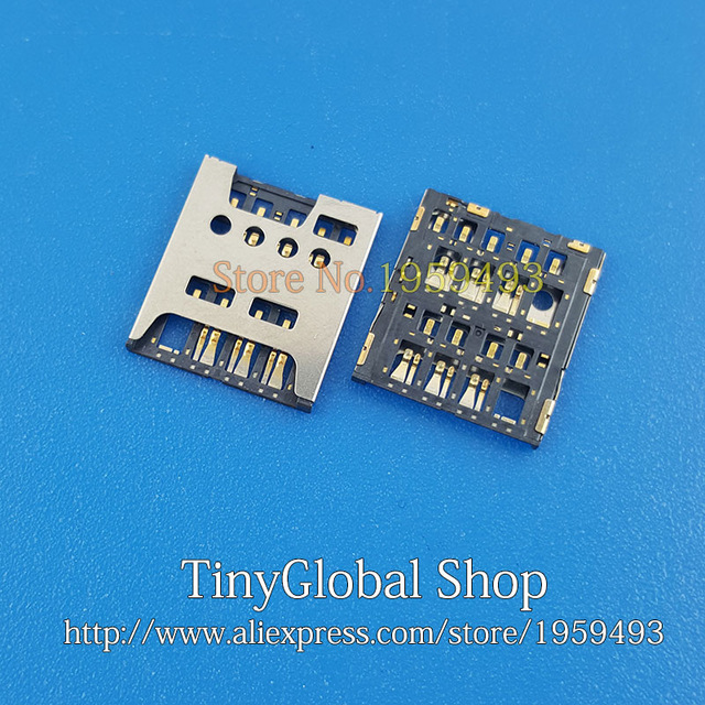 2pcs lot Original new sim card reader socket for font b Hisense b font HS EG980