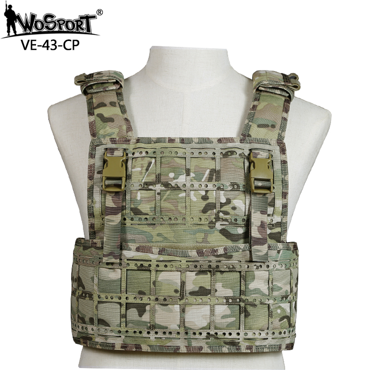 WosporT Tactical Vest Removable Modular Waterproof Adjustable Molle Airsoft Paintball CS Hunting Shooting Waistcoat Outdoor