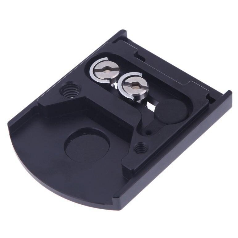 Camera Lens Mount 410PL Piastra A Sgancio Rapido per Manfrotto 405 410 per RC4 Sistema di Sgancio Rapido Nero