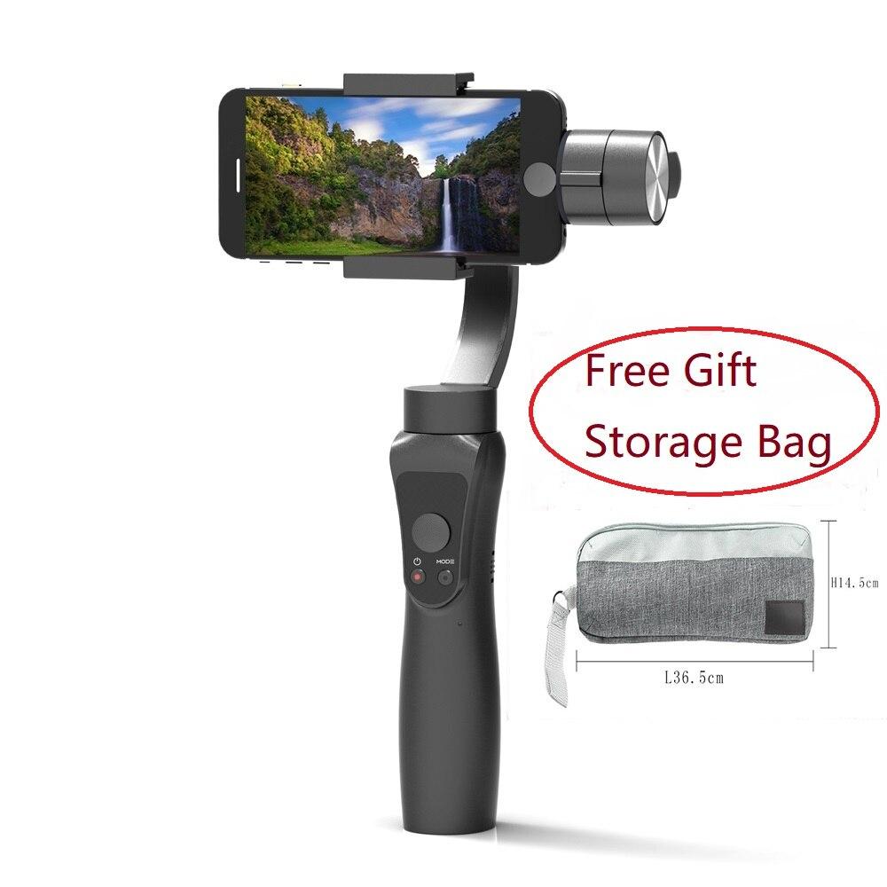 Lisse 3 Axes De Poche Cardan stabilisateur Portable Smartphone pour iPhone XR 8 Xiaomi Samsung S8 XiaoYi 4 k Gopro Action caméra
