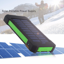 Power Bank 10000mAh Travel Waterproof Solar Power Bank Dual USB Externa Battery Solar Charger for iPhone X 8 7 Samsung S8 S9