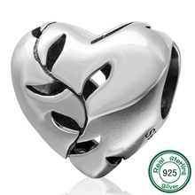 New DIY heart Charms Original 100% Authentic 925 Sterling Silver Beads fit for Pandora bracelets & Necklaces brand new original authentic gro m5b
