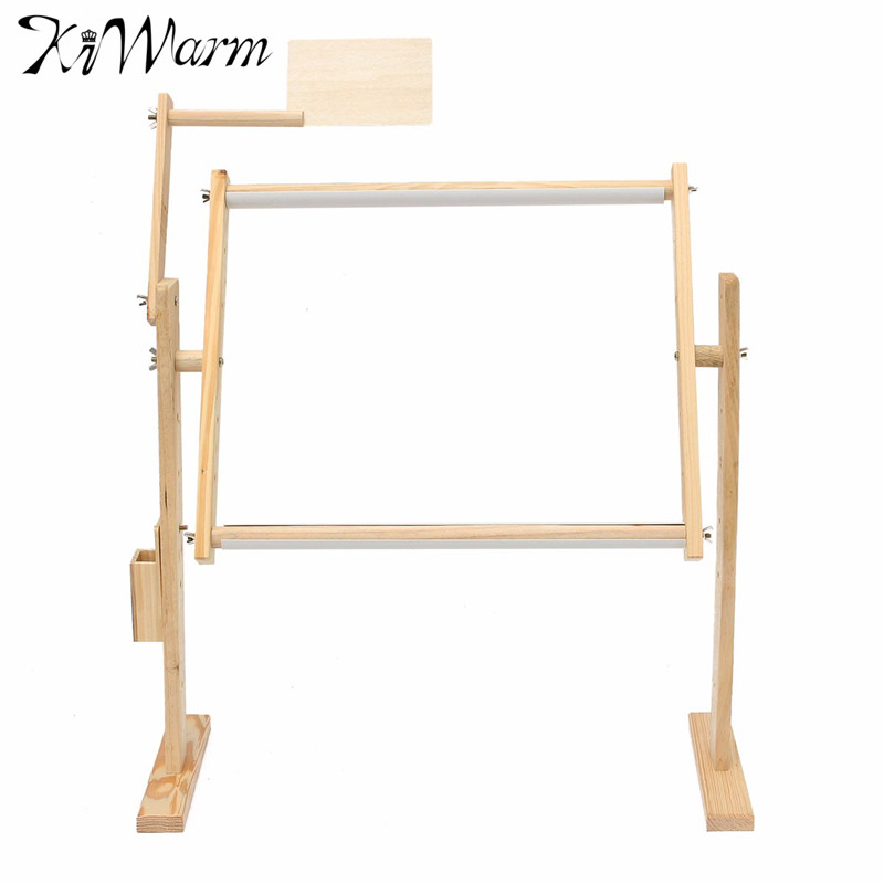 excellent adjustment solid wooden frames tabletop crossstitch embroidery floor stand for needlework sewing handmade tools