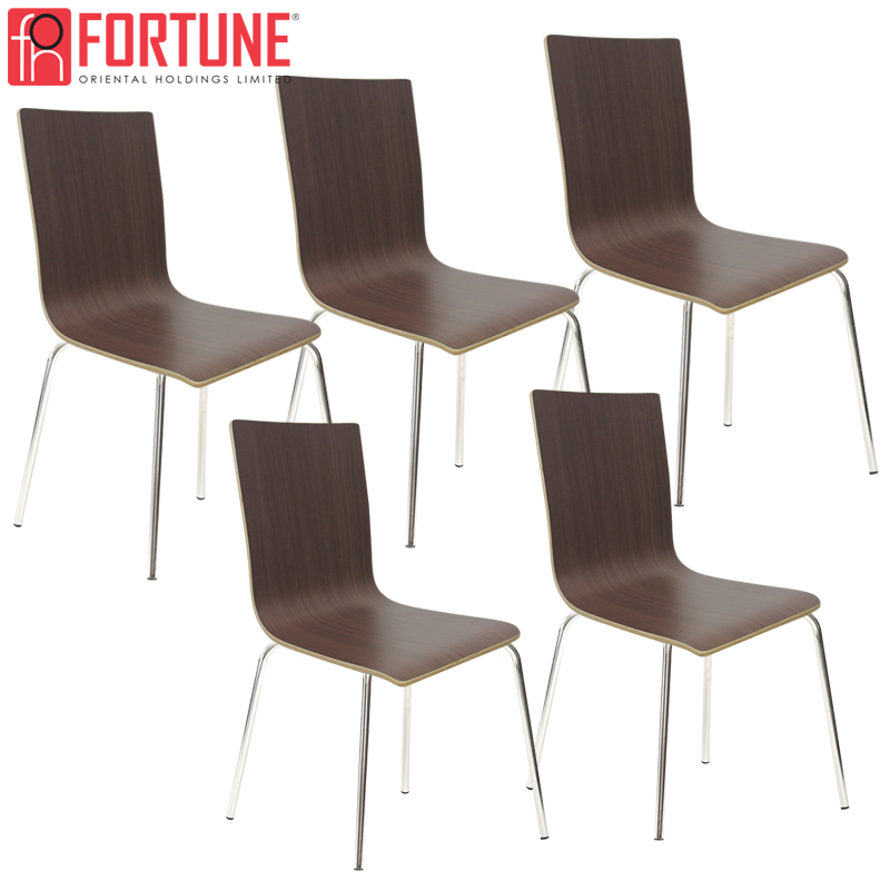 Restaurant Wood Chair High Quality Restaurant Furniture Modern Dining Chairs Plywood+Stainless Steel Commercial Furniture Chairs