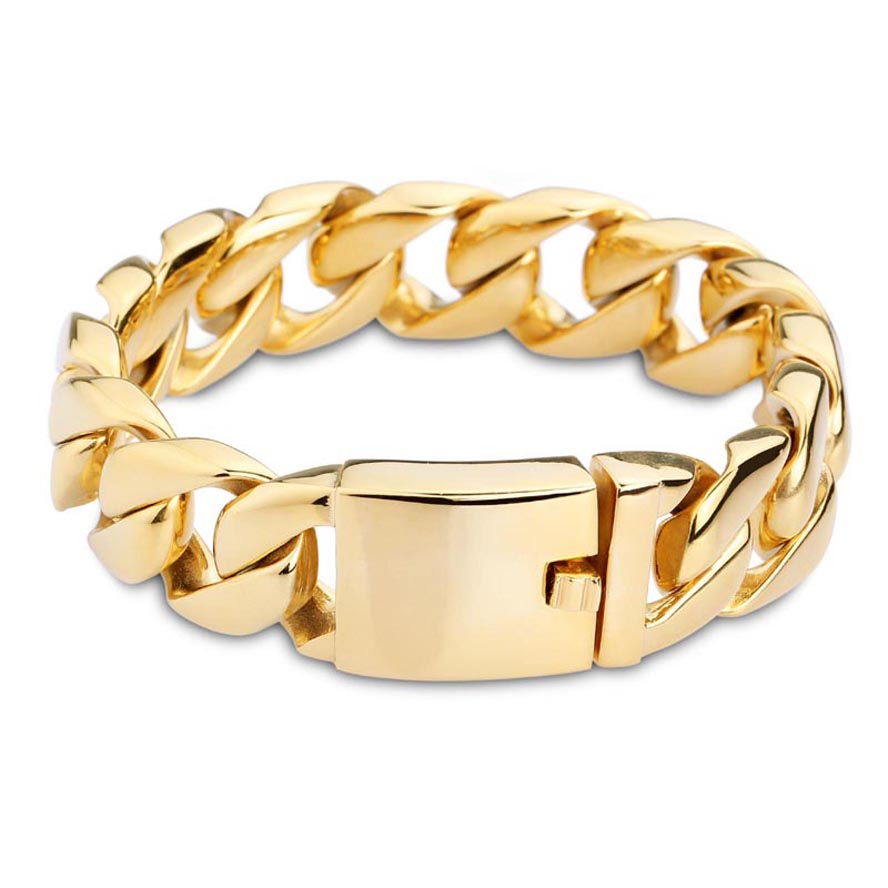 Shop exquisite cuff fashion trendy 2016 new gold color titanium bracelets for men 2016 new men fashion