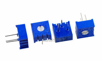 100pcs 3386P potentiometer precision adjustable resistance 100 200 500 ohm 1K 2K 5K 10K 20K 50K 100K 200K 500K 1M ohm - DISCOUNT ITEM  6 OFF Electronic Components & Supplies