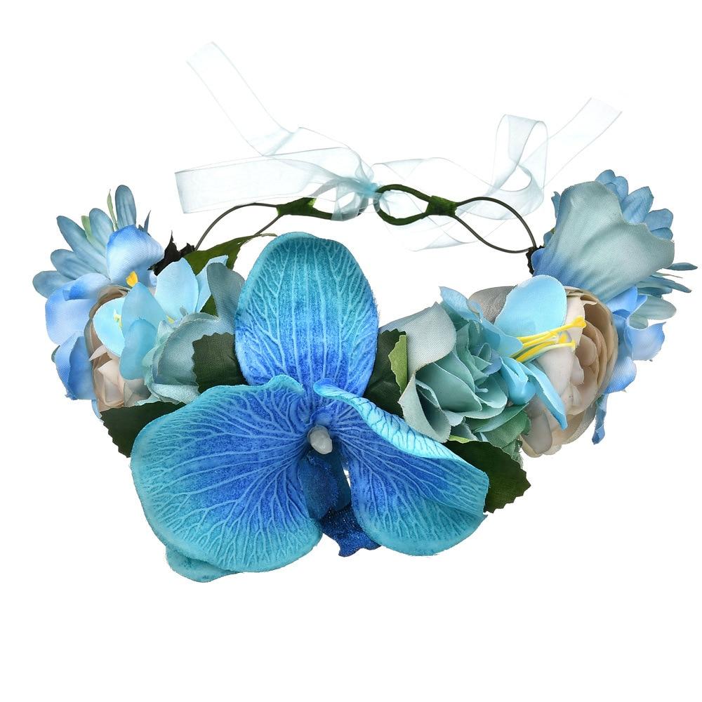 Humble European American Brides Headwear Handmade Simulated Phalaenopsis Flower Bridal Wedding Headpieces Hair Accessories 22cm Fine Quality Weddings & Events