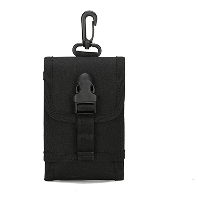 2017 New Unisex Phone Bag Camouflage Belt Bag Hook Loop Mobile Package small Nylon Coin Purses Size: 10*2*15cm
