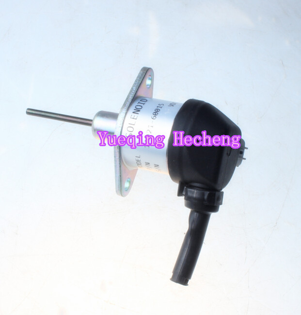 Fuel Shutoff Solenoid 1A021-60014 for V2203 4240-D 3924450 2001es 12 fuel shutdown solenoid valve for cummins hitachi