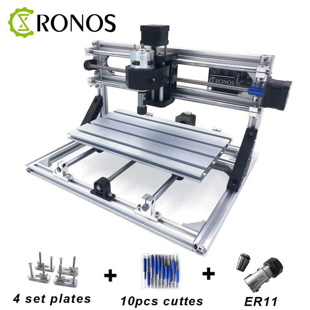 CNC 3018 ER11, bricolage Mini Machine de gravure de CNC, fraiseuse de carte Pcb, routeur en bois, gravure Laser, contrôle de GRBL de routeur de CNC, métal sculpté