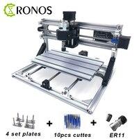 Cnc3018 er11  diy mini máquina de gravura do cnc  fresadora do pwb  roteador de madeira  gravura do laser  controle do roteador do cnc grbl  ansiado metal|Roteadores de madeira| |  -
