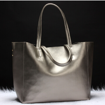 ФОТО Female tote bag simple style genuine cow leather fashion  bag vintage messenger shoulder bag  office lady  large  capacity