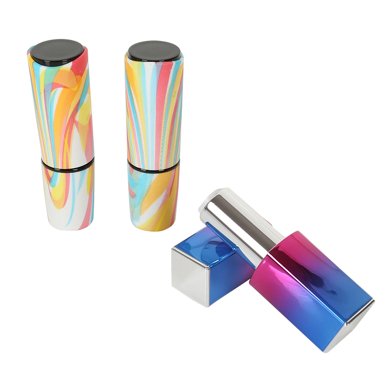 10/20/50pcs Gradient Magnetic Buckle Mirror Lipstick Tube Seven Rainbow High-grade Empty Lip Rouge Mouth Container DIY Cosmetic 500g cosmetic grade 99