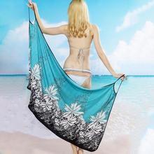 Kobiety sukienka plażowa sexy Sling Beach Wear sukienka sarong bikini cover-up Wrap Pareo spódnice ręcznik stroje kąpielowe na otwartym plecach tanie tanio Faddare Poliester Drukowania