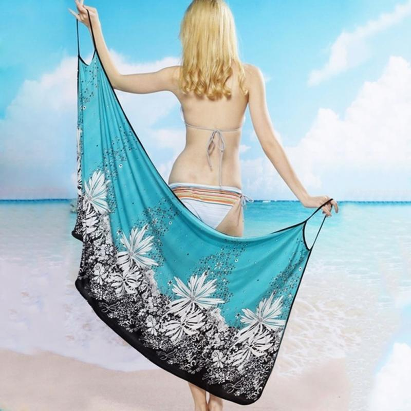 Women Beach Dress Sexy Sling Beach Wear Dress Sarong Bikini Cover-ups Wrap Pareo Skirts Towel Open-Back SwimwearWomen Beach Dress Sexy Sling Beach Wear Dress Sarong Bikini Cover-ups Wrap Pareo Skirts Towel Open-Back Swimwear