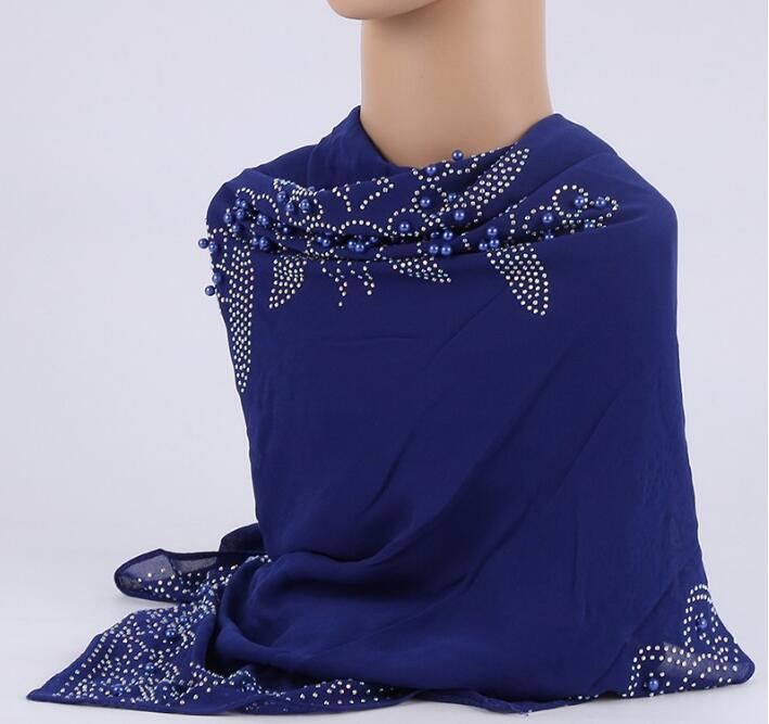 square chiffon   scarf   hijab shawl soft   scarf   beading and stone arabic head   scarf     wrap   shawl 100cm free ship