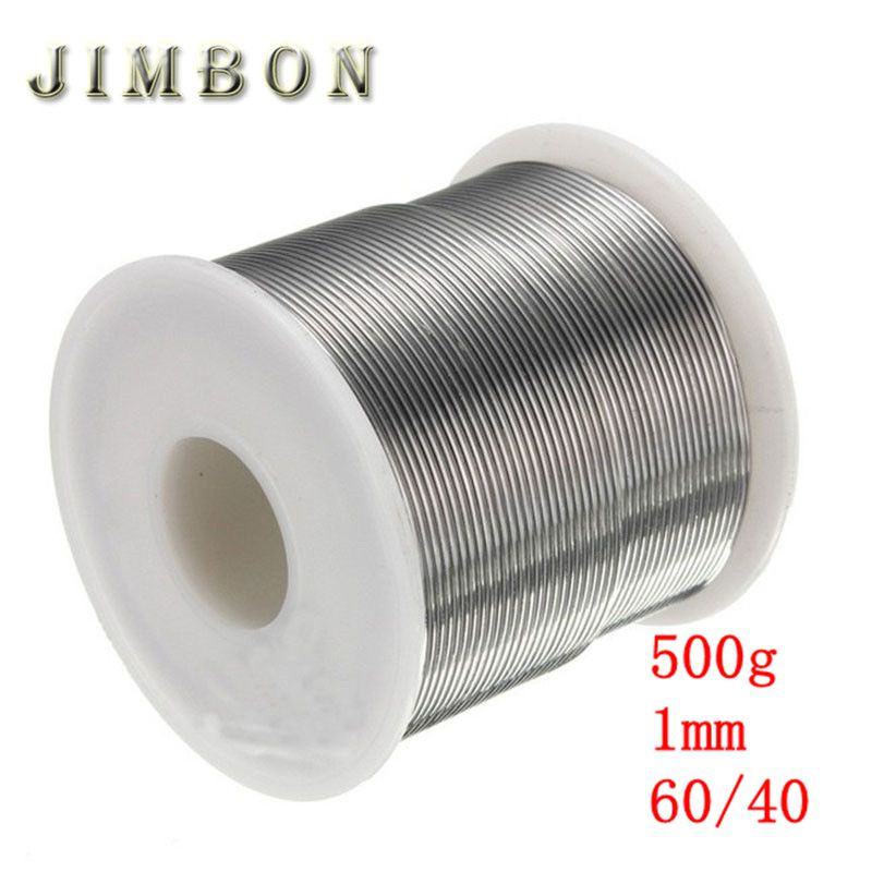 JimBon 1mm 500g 60/40 Rosin Core Solder Tin Lead 2.0% Flux Soldering Welding Iron Wire Reel 20pcs 12w led light panel smd 5730 ic driver pcb input voltage ac110v 130v needn t driver aluminum plate free shippping