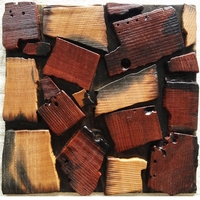 11 Square Feet Lot Wood Wall Tiles 3D Wood Mosaic Tile Wood Panel Floor Tiles