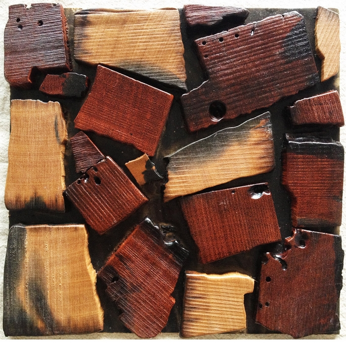 home improvement natural wood mosaic tiles rustic log wood wall tiles 3D wood mosaic tile wood panel floor tiles